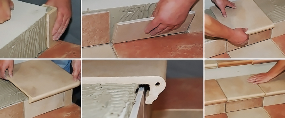 Укладка плитки на ступеньки