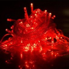 Гирлянда электрическая 100LED 10м красный