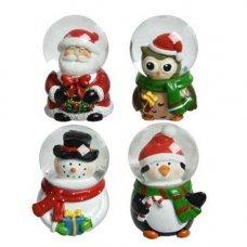 Декор новогодний Шар снежный в ассортименте 5х7см