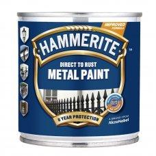 Краска для металла Черная гладкая 0.25л