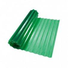 Пластиковый шифер волнистый 1.5x10м зеленый
