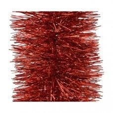 Мишура елочная красная 20х270см
