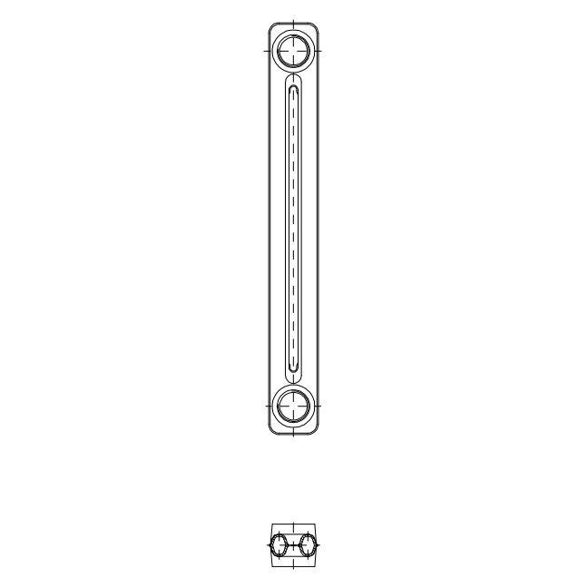 Радиатор чугунный Kalor 580x60мм 1секция