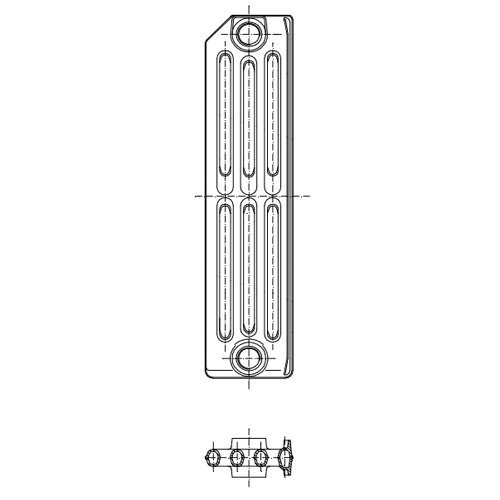 Радиатор чугунный Termo 560x60мм 1секция