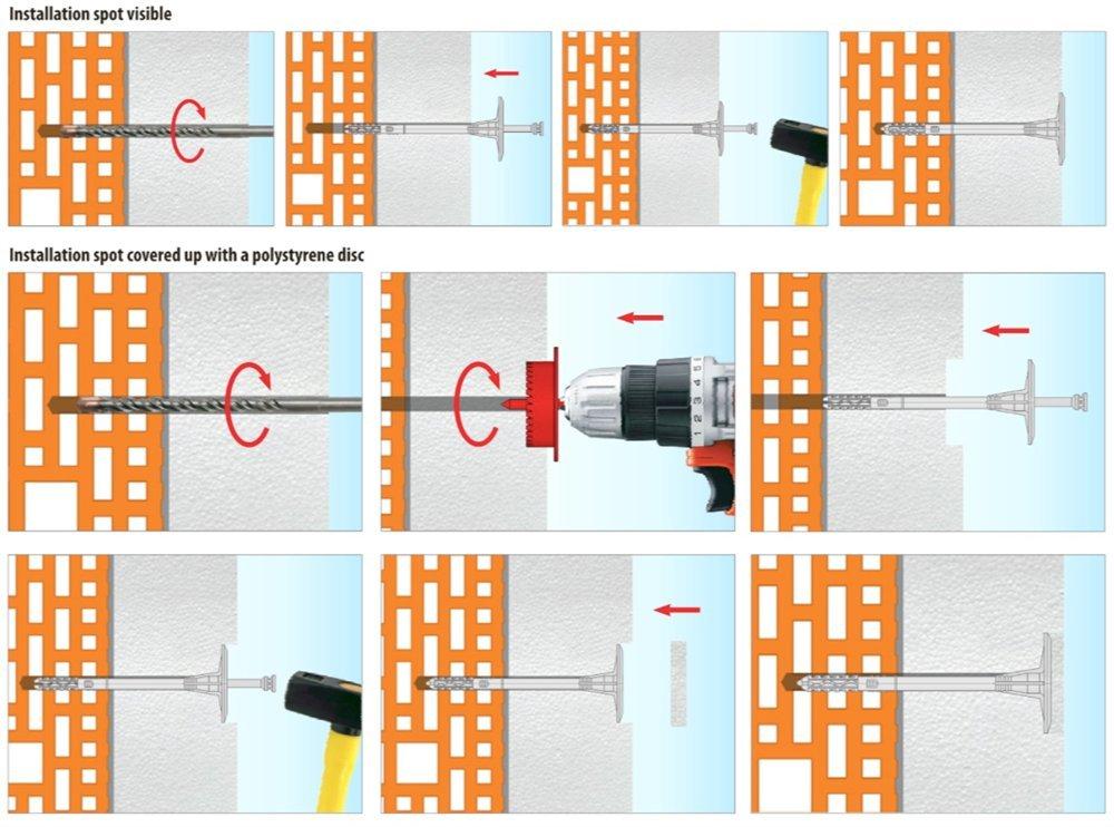 Дюбель для изоляционных материалов LTX 10x180мм