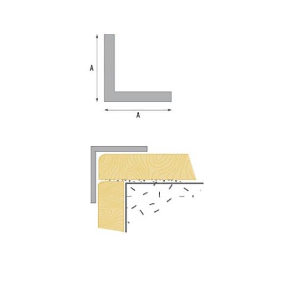Уголок ПВХ 102 10x10мм 2.75м